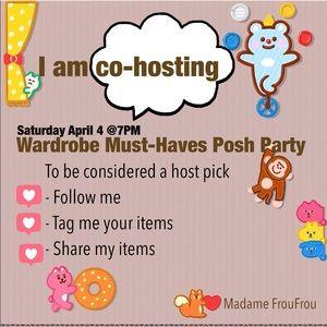 SAT 04/04 HOSTING Wardrobe Must-Haves Posh Party